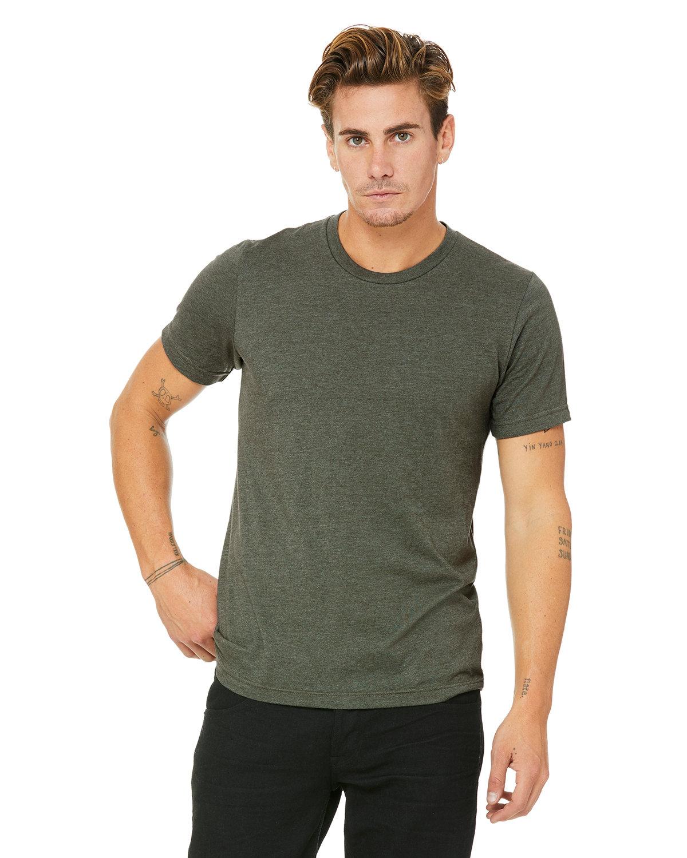 Bella + Canvas Unisex Heather CVC T-Shirt HTHR MILTARY GRN