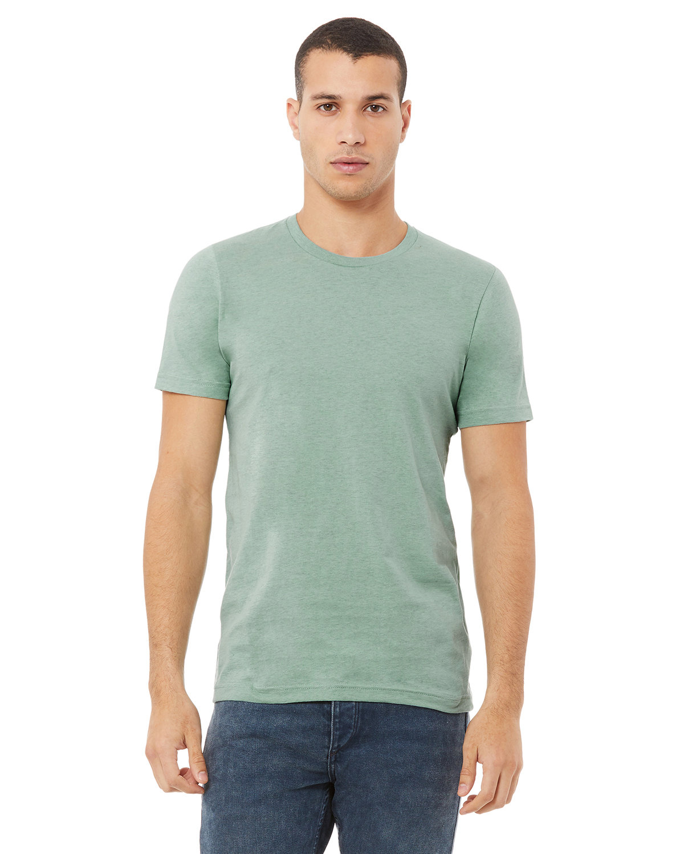 Bella + Canvas Unisex Heather CVC T-Shirt HTH PRSM DSTY BL