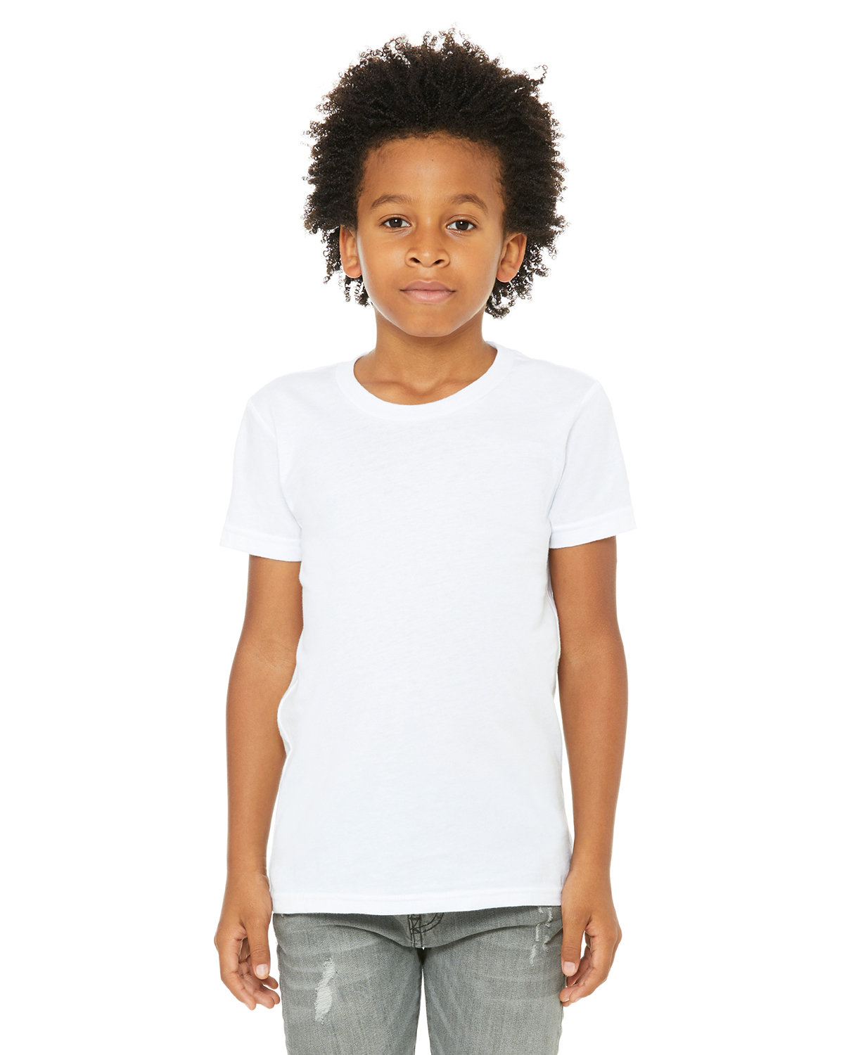 Bella + Canvas Youth Jersey T-Shirt WHITE
