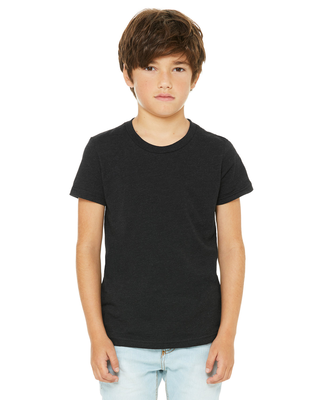 Bella + Canvas Youth Jersey T-Shirt BLACK HEATHER
