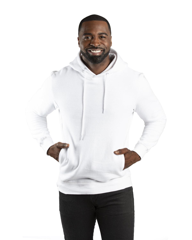 Threadfast Unisex Ultimate Fleece Pullover Hooded Sweatshirt WHITE