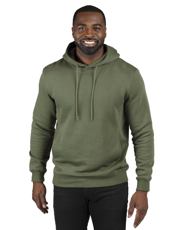 Threadfast Unisex Ultimate Fleece Pullover Hooded Sweatshirt ARMY