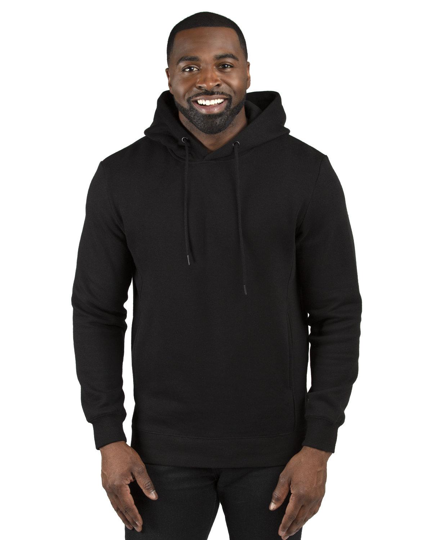 Threadfast Unisex Ultimate Fleece Pullover Hooded Sweatshirt BLACK