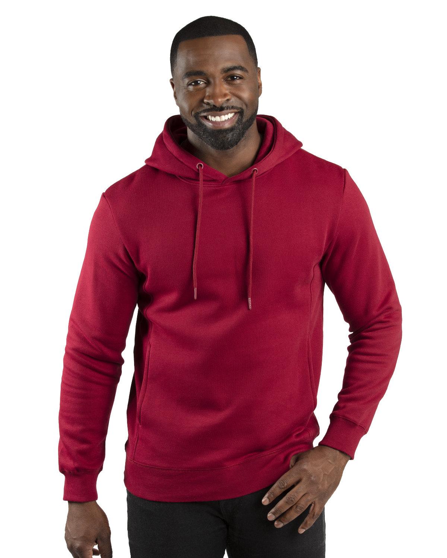 Threadfast Unisex Ultimate Fleece Pullover Hooded Sweatshirt BURGUNDY
