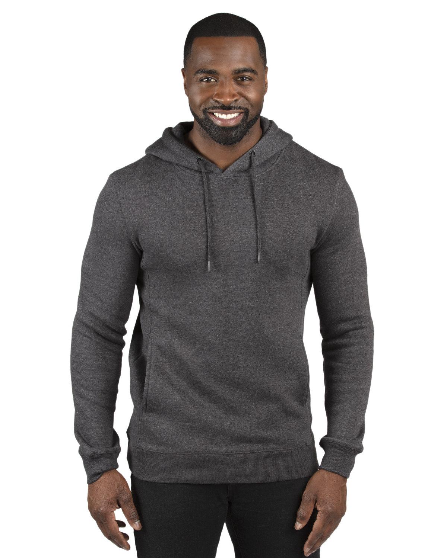 Threadfast Unisex Ultimate Fleece Pullover Hooded Sweatshirt CHARCOAL HEATHER