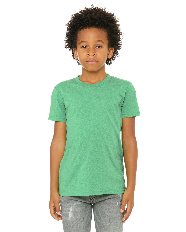 Bella + Canvas Youth Triblend Short-Sleeve T-Shirt GREEN TRIBLEND