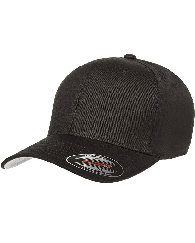 Flexfit Adult Value Cotton Twill Cap BLACK