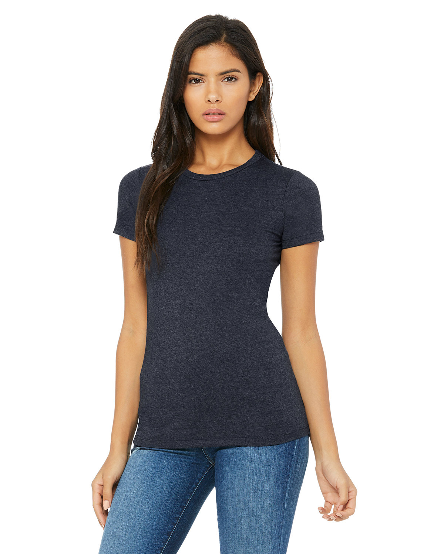 Bella + Canvas Ladies' Slim Fit T-Shirt HEATHER NAVY