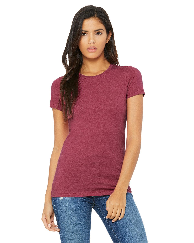 Bella + Canvas Ladies' Slim Fit T-Shirt HEATHER RASPBRRY