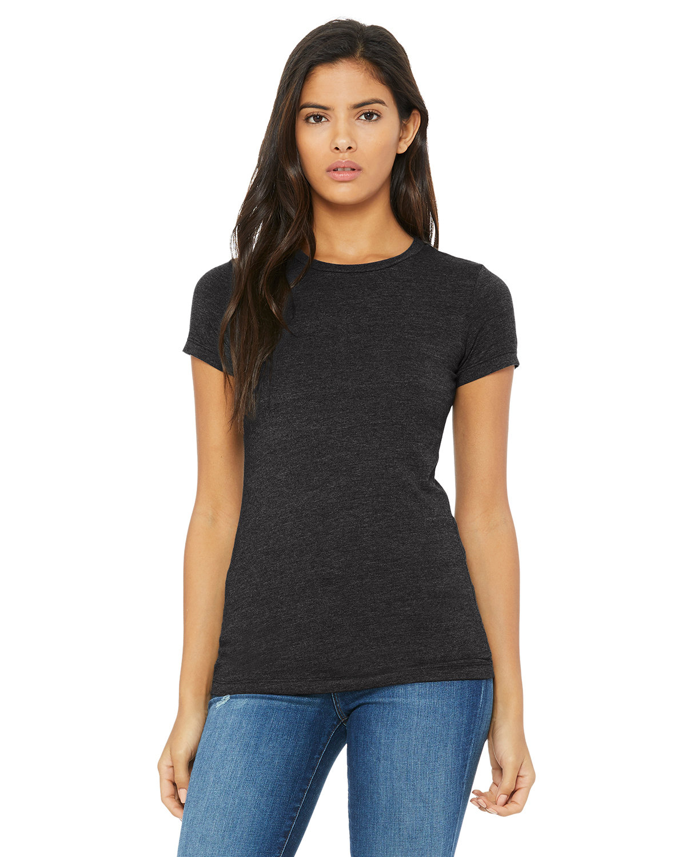 Bella + Canvas Ladies' Slim Fit T-Shirt DRK GREY HEATHER