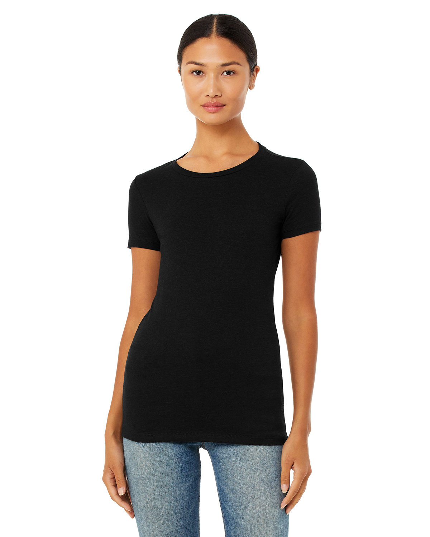 Bella + Canvas Ladies' Slim Fit T-Shirt BLACK HEATHER