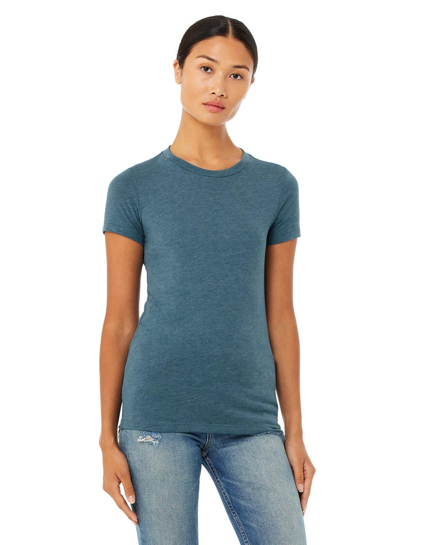 Bella + Canvas Ladies' Slim Fit T-Shirt HTHR DEEP TEAL