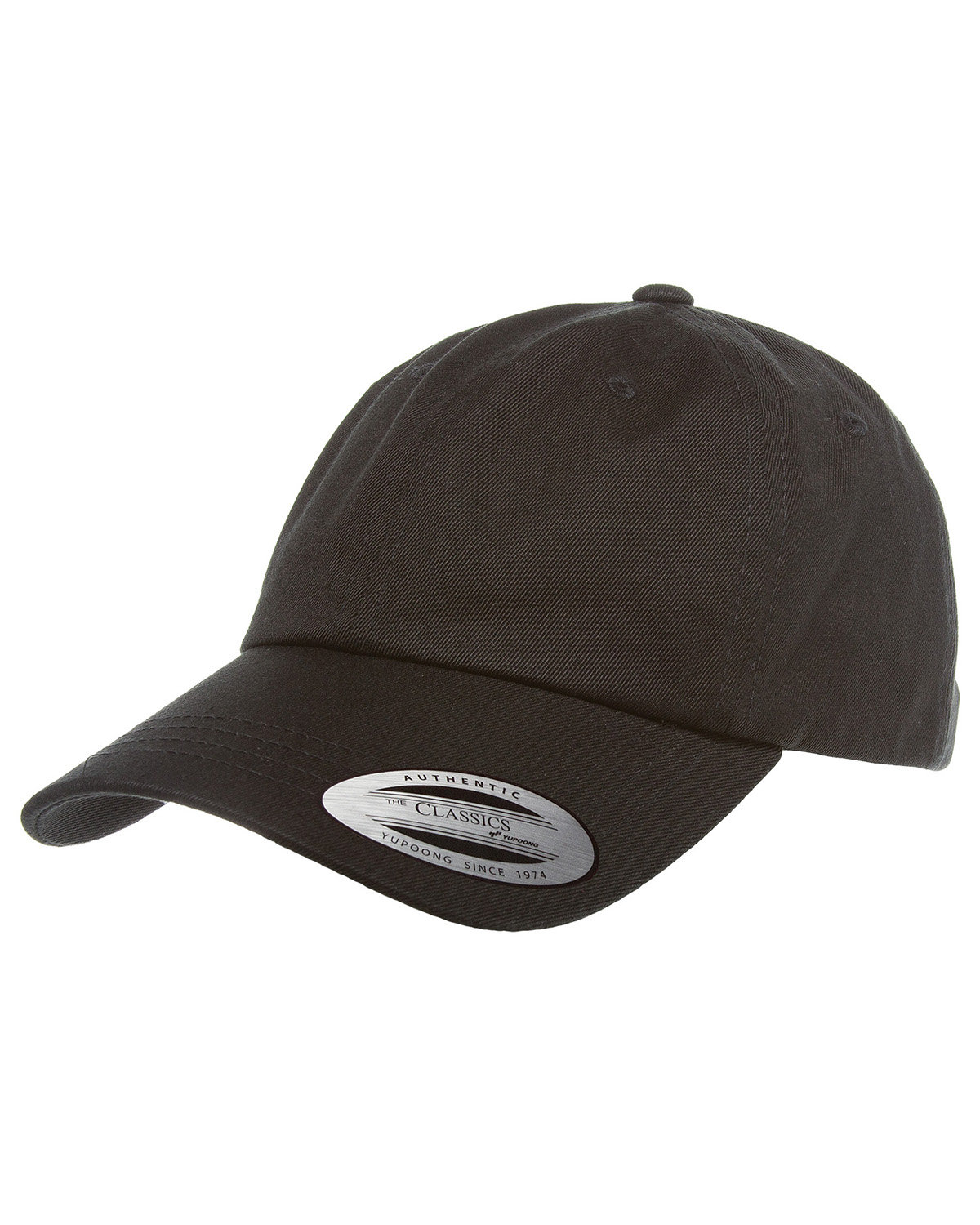 Yupoong Adult Low-Profile Cotton Twill Dad Cap BLACK