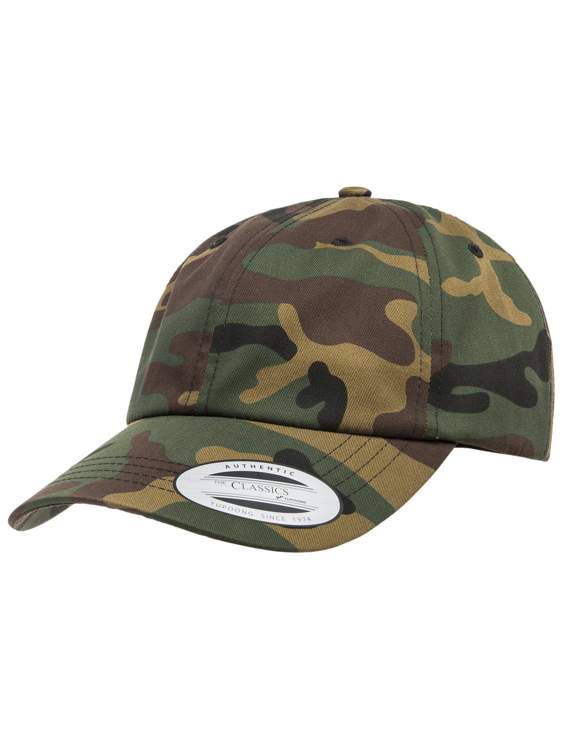 Yupoong Adult Low-Profile Cotton Twill Dad Cap GREEN CAMO