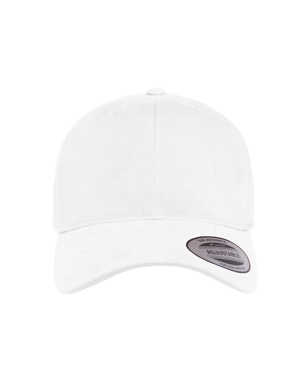 Yupoong Adult Brushed Cotton Twill Mid-Profile Cap WHITE