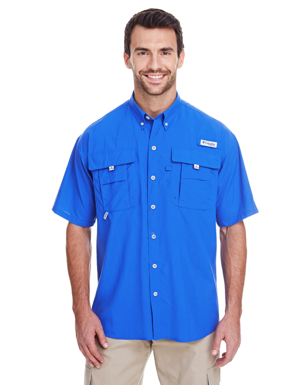 Columbia Men's Bahama™ II Short-Sleeve Shirt VIVID BLUE