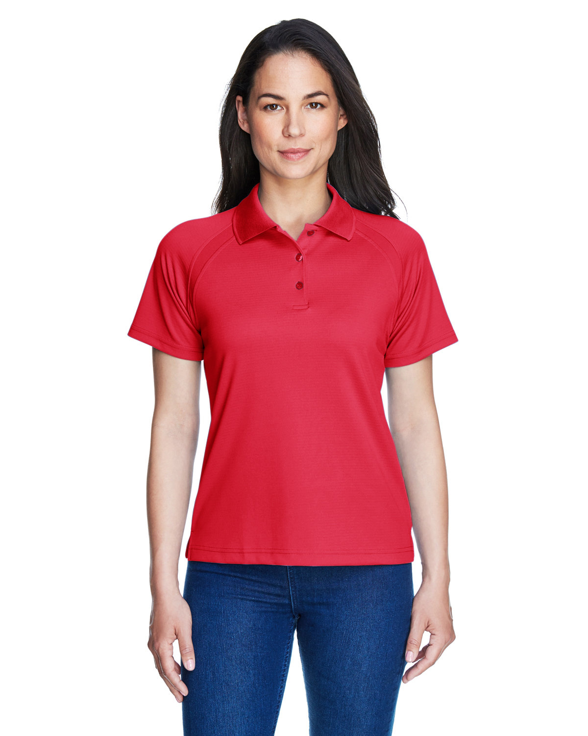 Extreme Ladies' Eperformance™ Ottoman Textured Polo CLASSIC RED