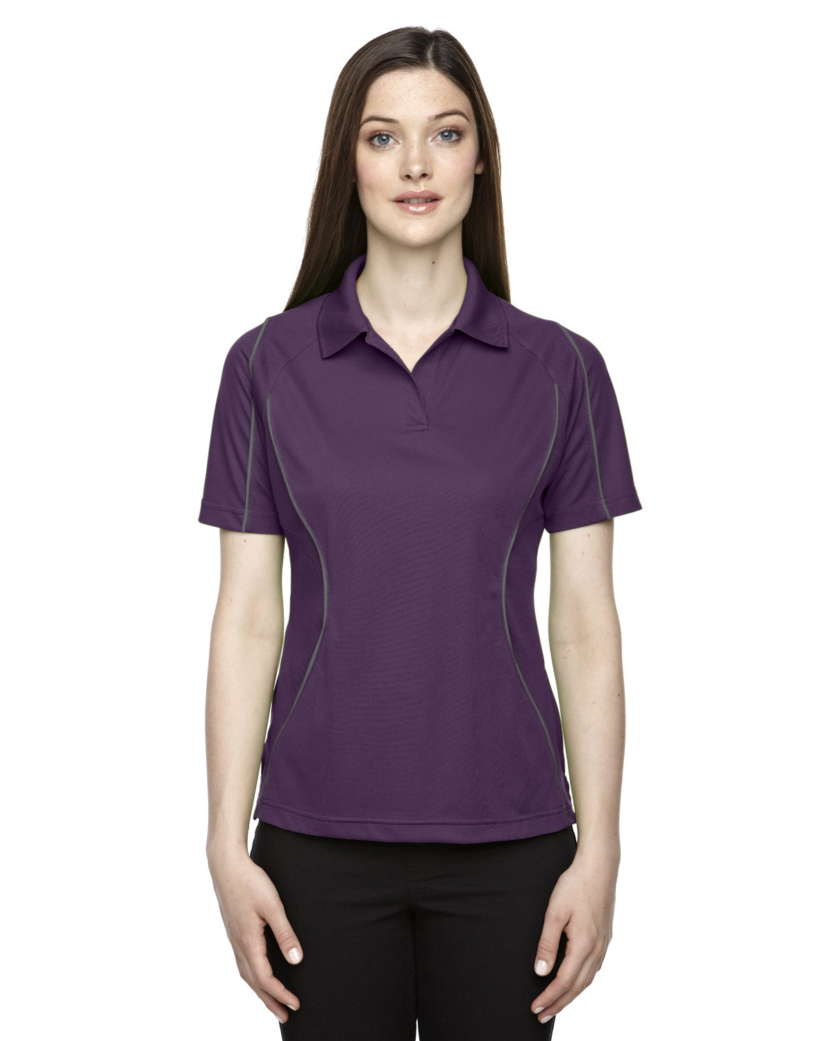 Extreme Ladies' Eperformance™ Velocity Snag Protection Colorblock Polo with Piping MULBERRY PURPLE