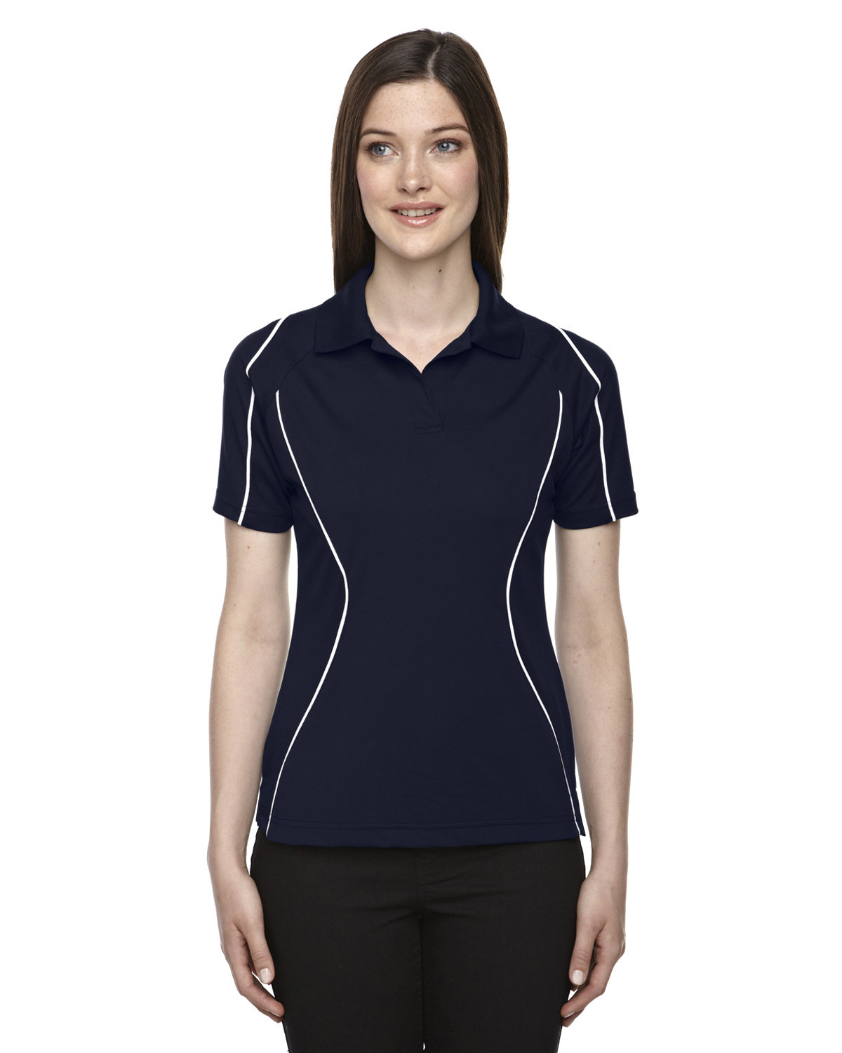 Extreme Ladies' Eperformance™ Velocity Snag Protection Colorblock Polo with Piping CLASSIC NAVY