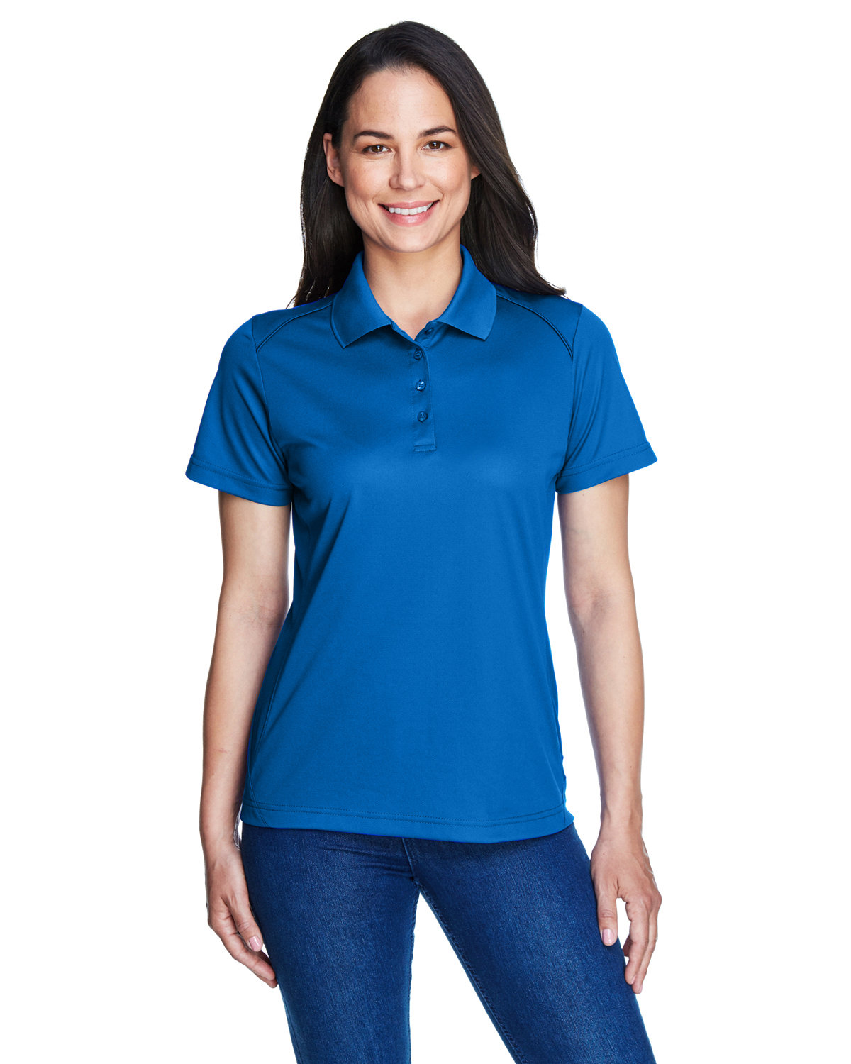 Extreme Ladies' Eperformance™ Shield Snag Protection Short-Sleeve Polo TRUE ROYAL