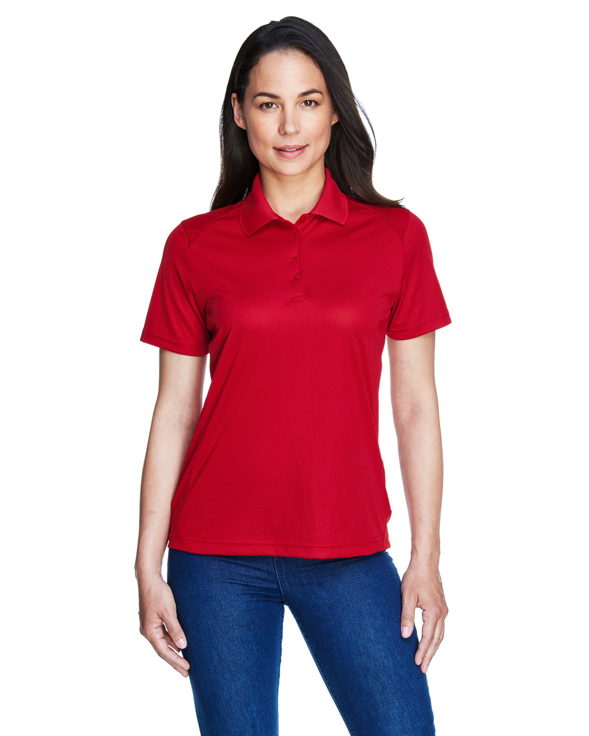 Extreme Ladies' Eperformance™ Shield Snag Protection Short-Sleeve Polo CLASSIC RED