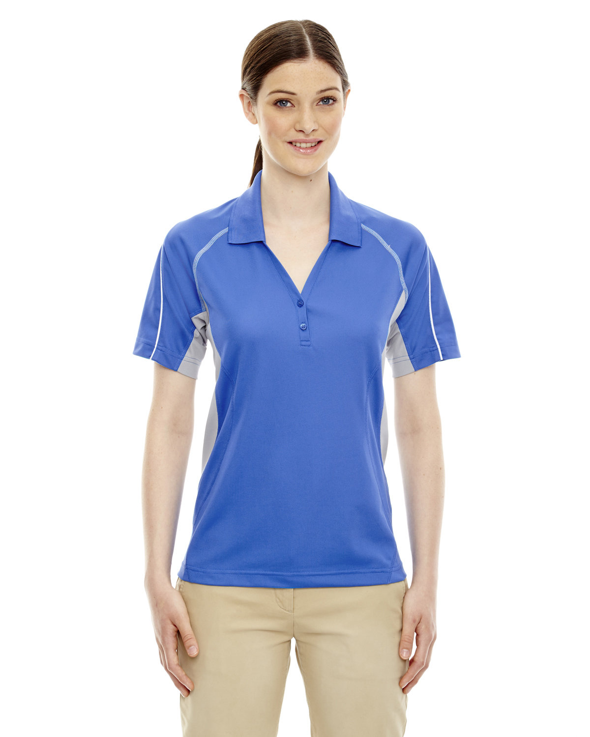 Extreme Ladies' Eperformance™ Parallel Snag Protection Polo with Piping LT NAUTICAL BLU