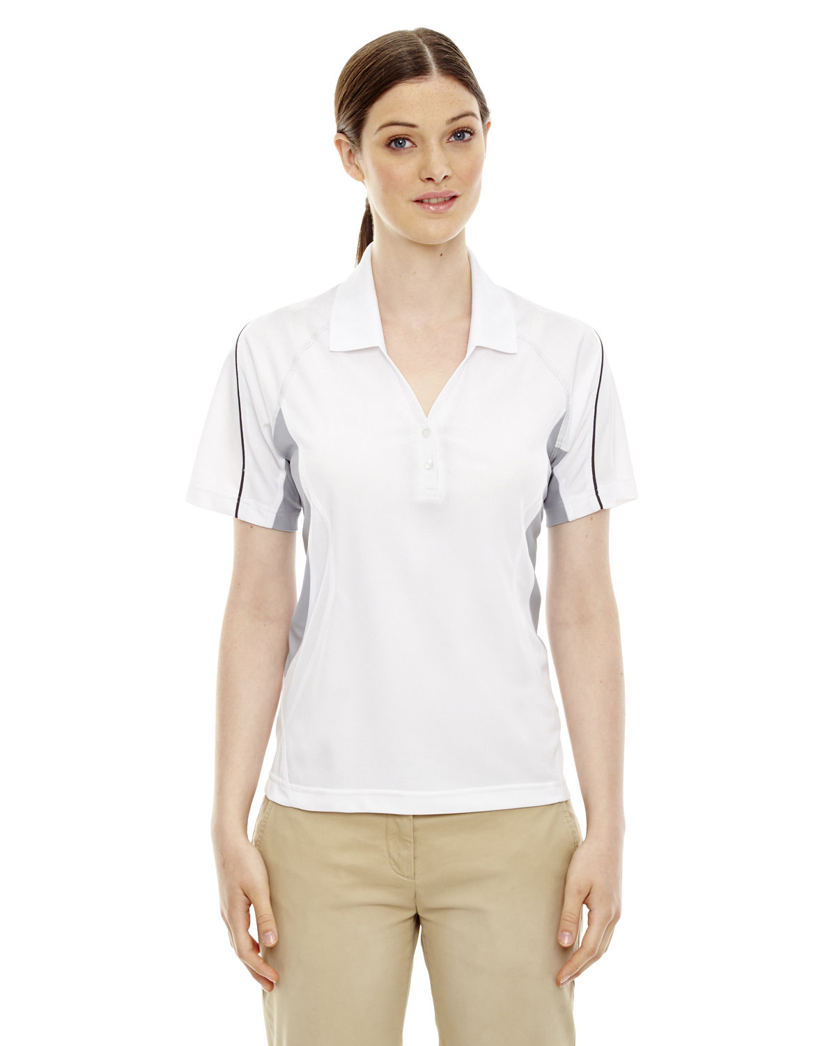 Extreme Ladies' Eperformance™ Parallel Snag Protection Polo with Piping WHITE