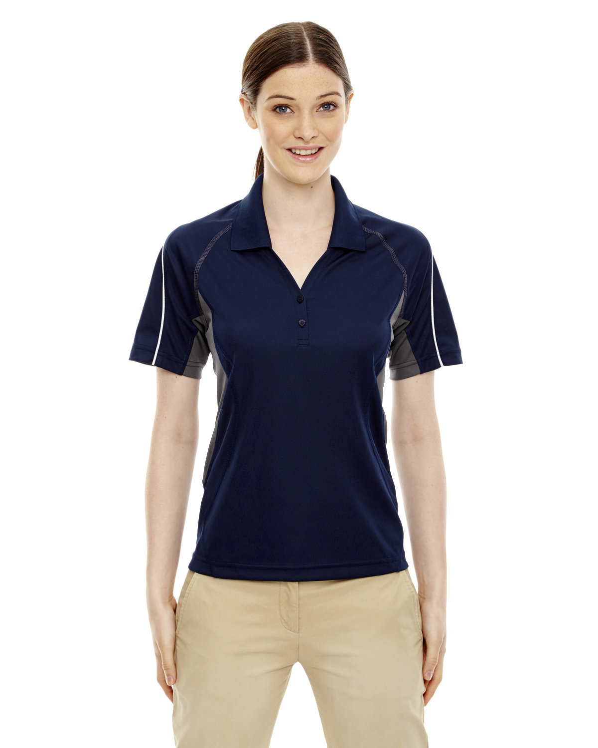 Extreme Ladies' Eperformance™ Parallel Snag Protection Polo with Piping CLASSIC NAVY