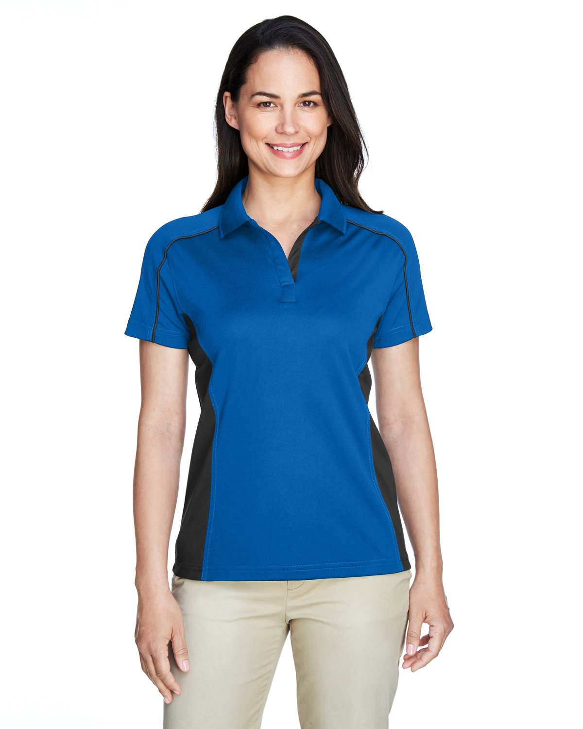 Extreme Ladies' Eperformance™ Fuse Snag Protection Plus Colorblock Polo TRUE ROYAL/ BLK