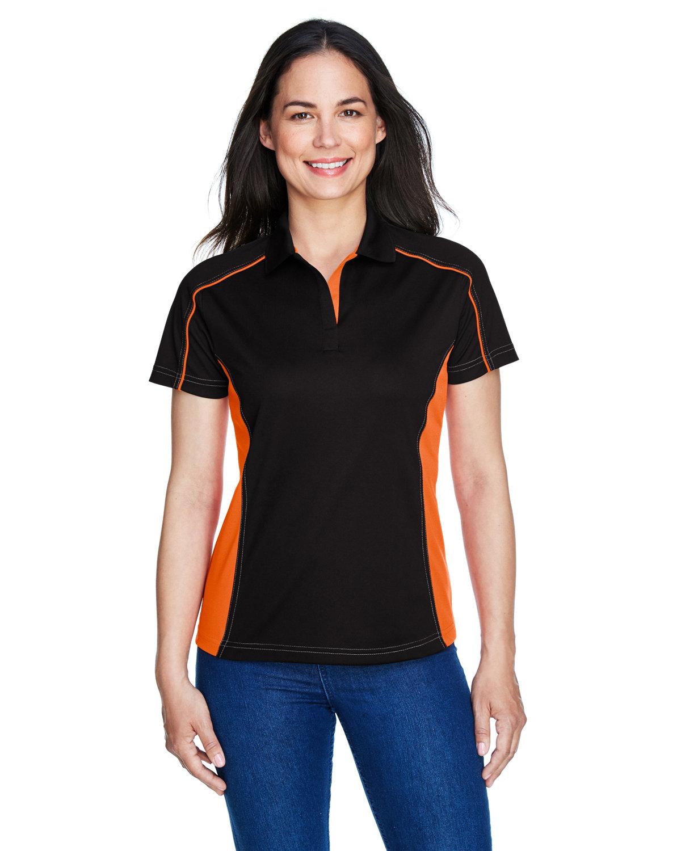 Extreme Ladies' Eperformance™ Fuse Snag Protection Plus Colorblock Polo BLACK/ ORANGE