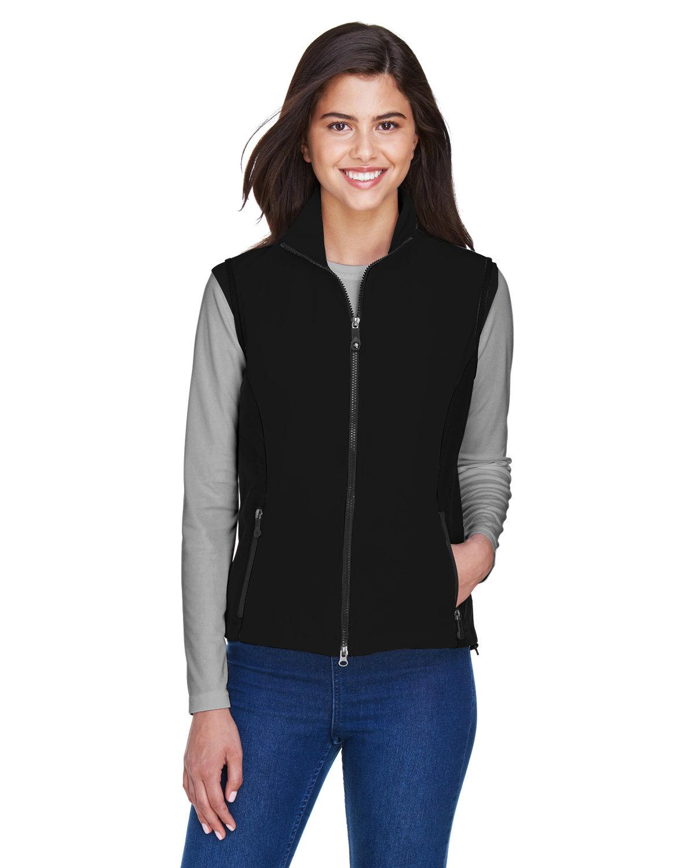North End Ladies' Three-Layer Light Bonded Performance Soft Shell Vest BLACK