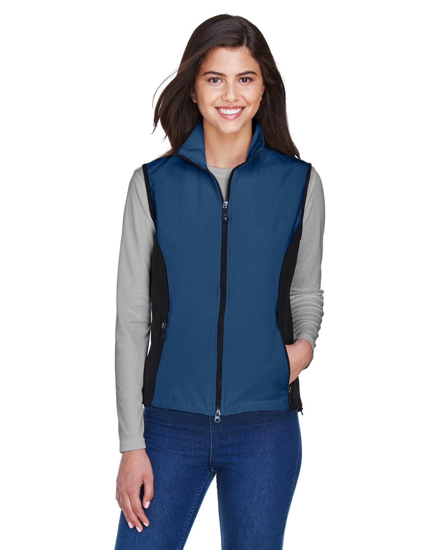 North End Ladies' Three-Layer Light Bonded Performance Soft Shell Vest REGATA BLUE