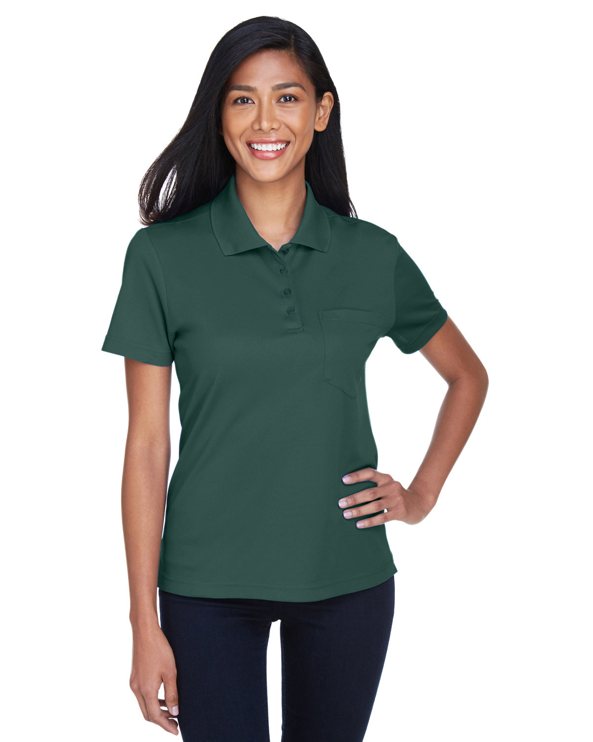 Core 365 Ladies' Origin Performance Piqué Polo with Pocket FOREST