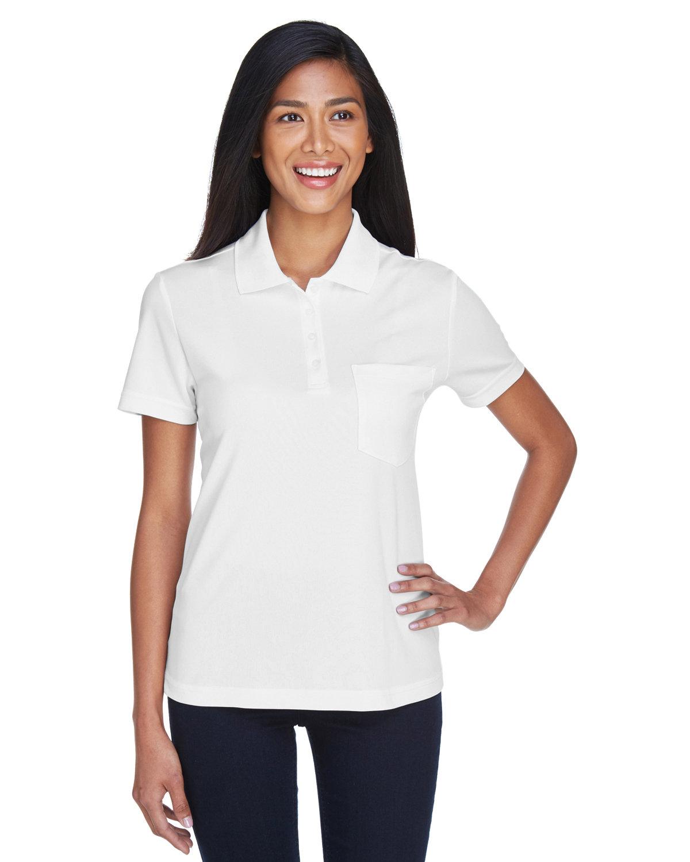Core 365 Ladies' Origin Performance Piqué Polo with Pocket WHITE