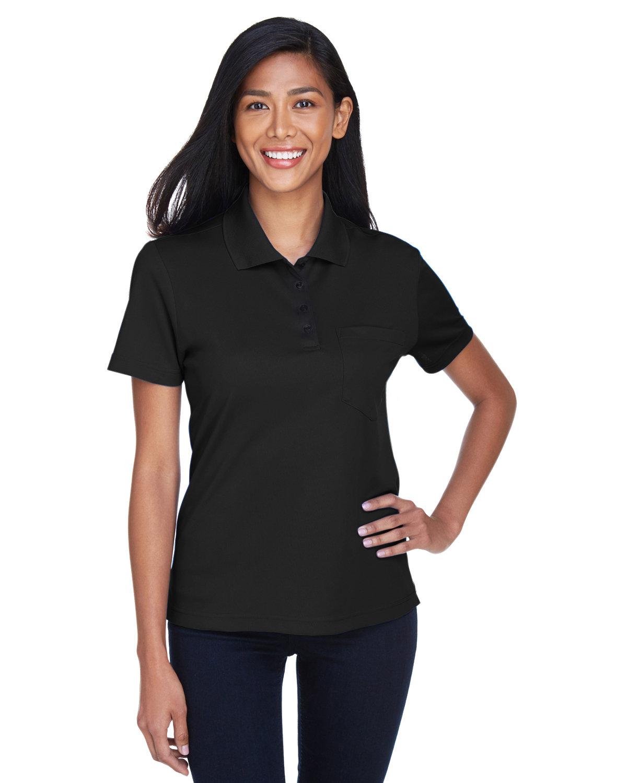 Core 365 Ladies' Origin Performance Piqué Polo with Pocket BLACK