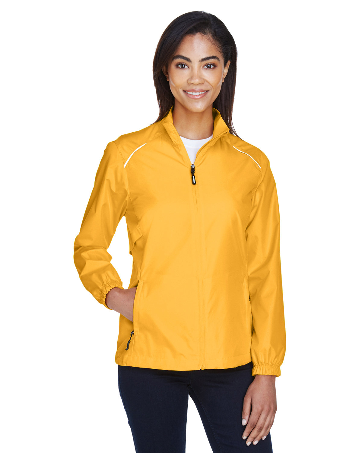 Core 365 Ladies' Motivate Unlined Lightweight Jacket CAMPUS GOLD