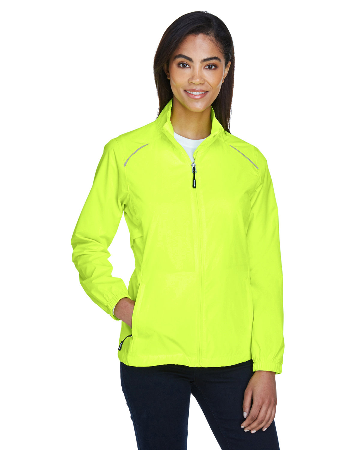 Core 365 Ladies' Motivate Unlined Lightweight Jacket SAFETY YELLOW