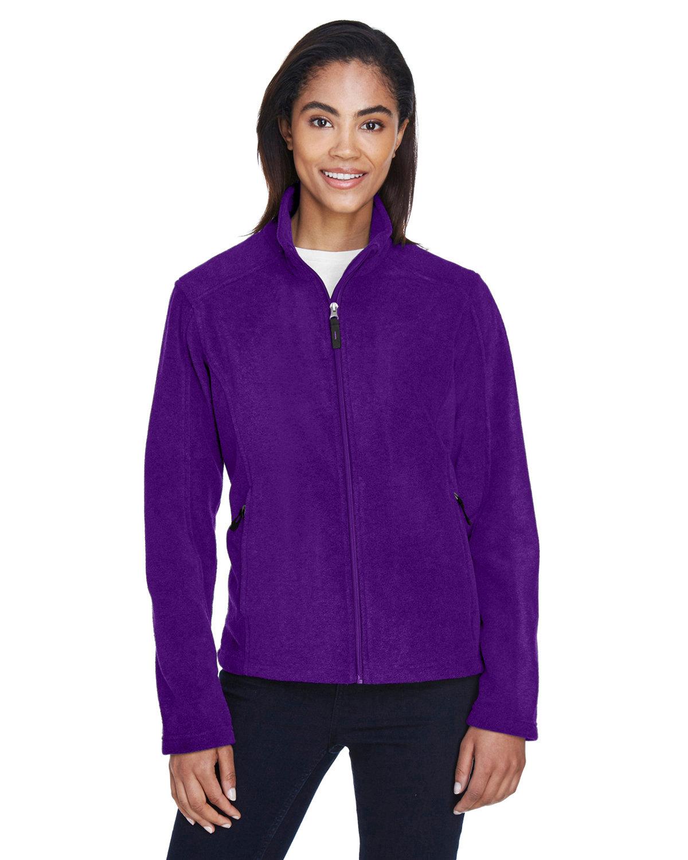 Core 365 Ladies' Journey Fleece Jacket CAMPUS PURPLE