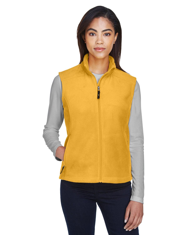 Core 365 Ladies' Journey Fleece Vest CAMPUS GOLD
