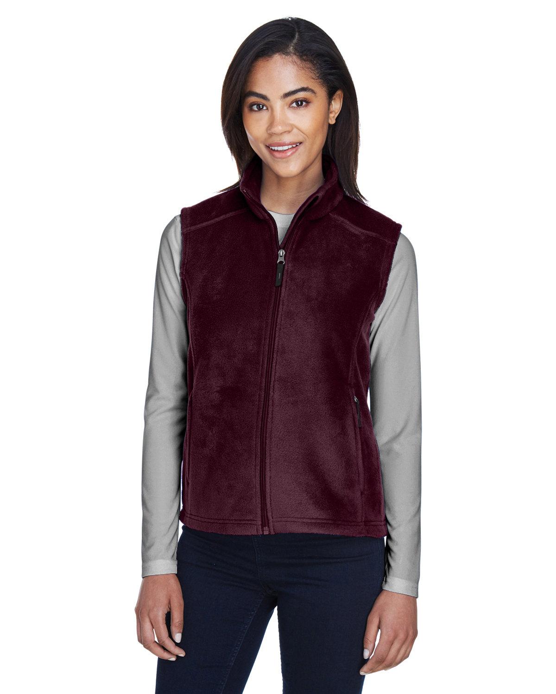 Core 365 Ladies' Journey Fleece Vest BURGUNDY