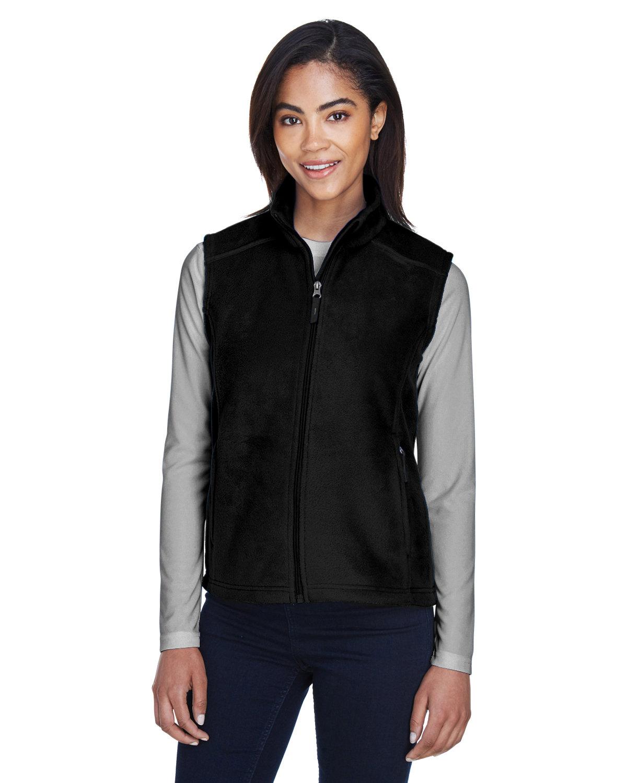 Core 365 Ladies' Journey Fleece Vest BLACK