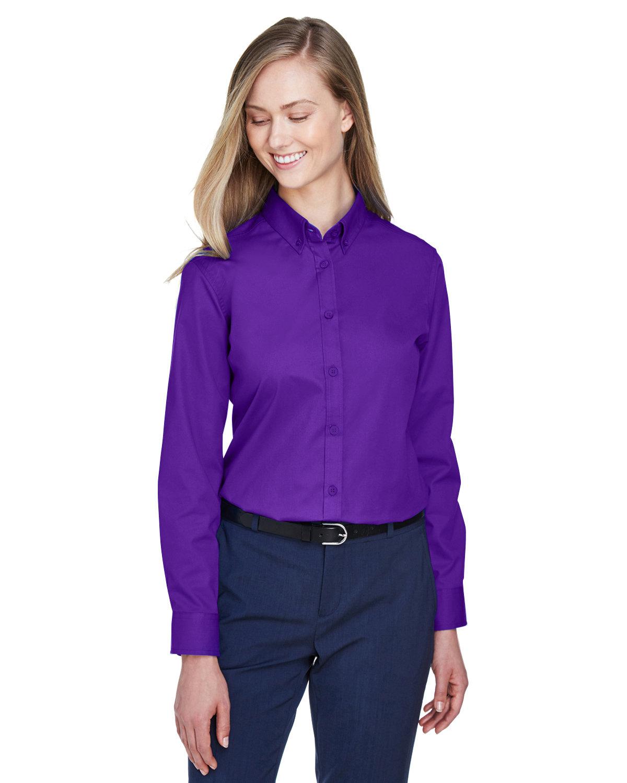 Core 365 Ladies' Operate Long-Sleeve Twill Shirt CAMPUS PURPLE