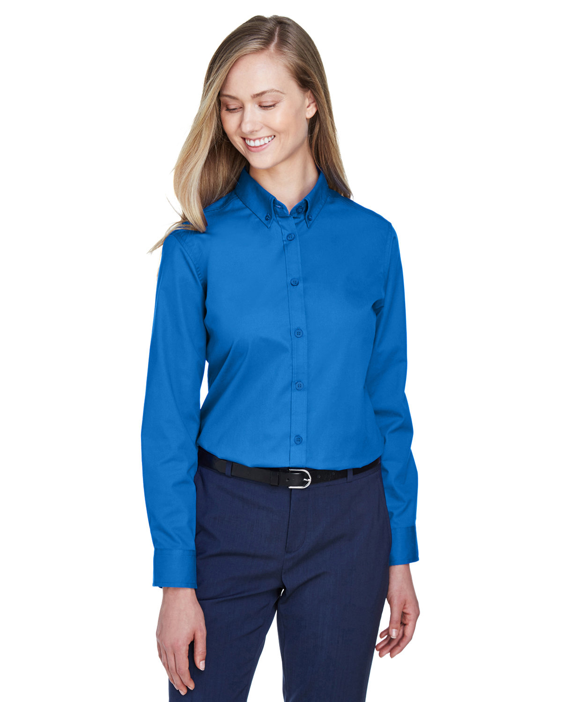 Core 365 Ladies' Operate Long-Sleeve Twill Shirt TRUE ROYAL