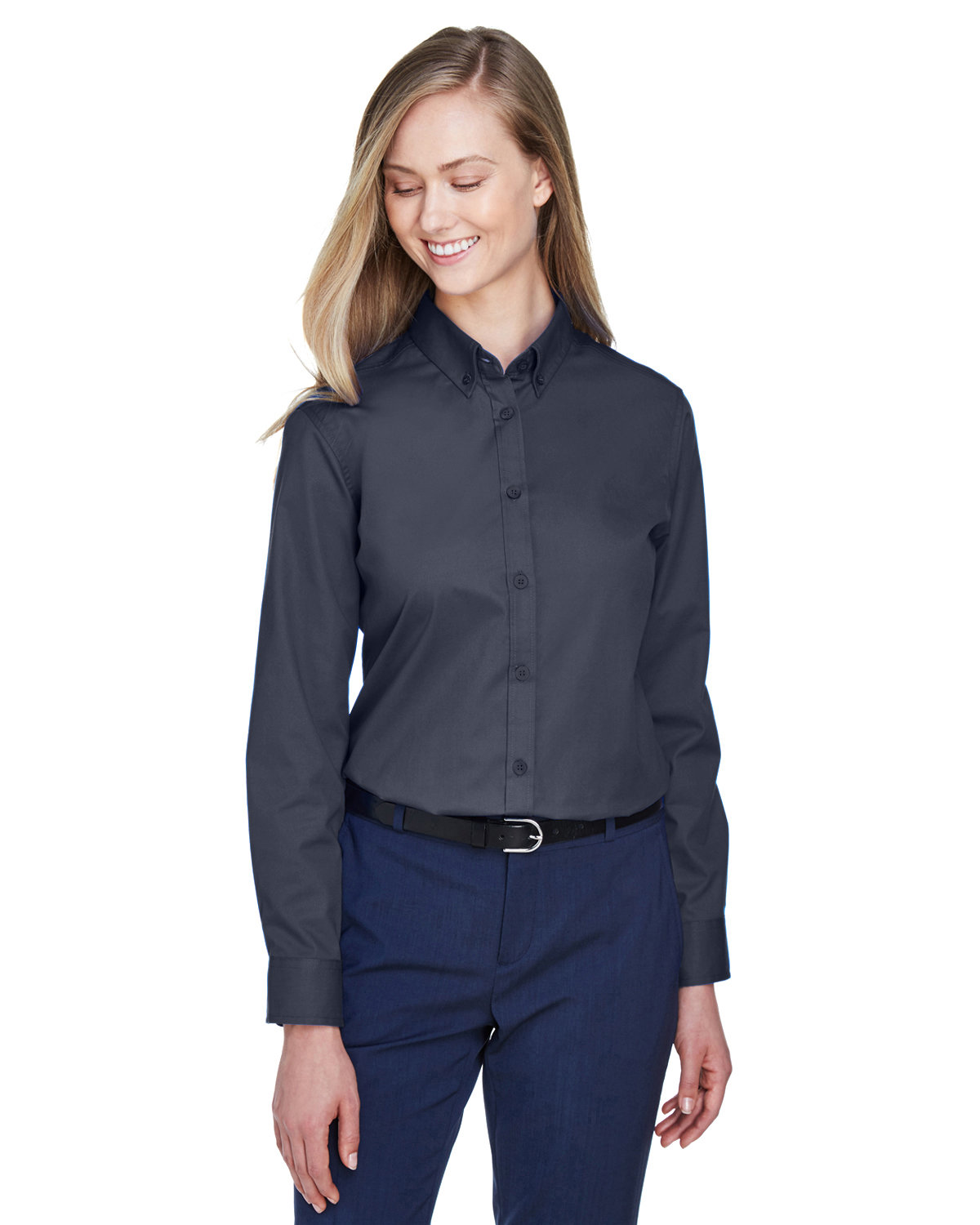 Core 365 Ladies' Operate Long-Sleeve Twill Shirt CARBON