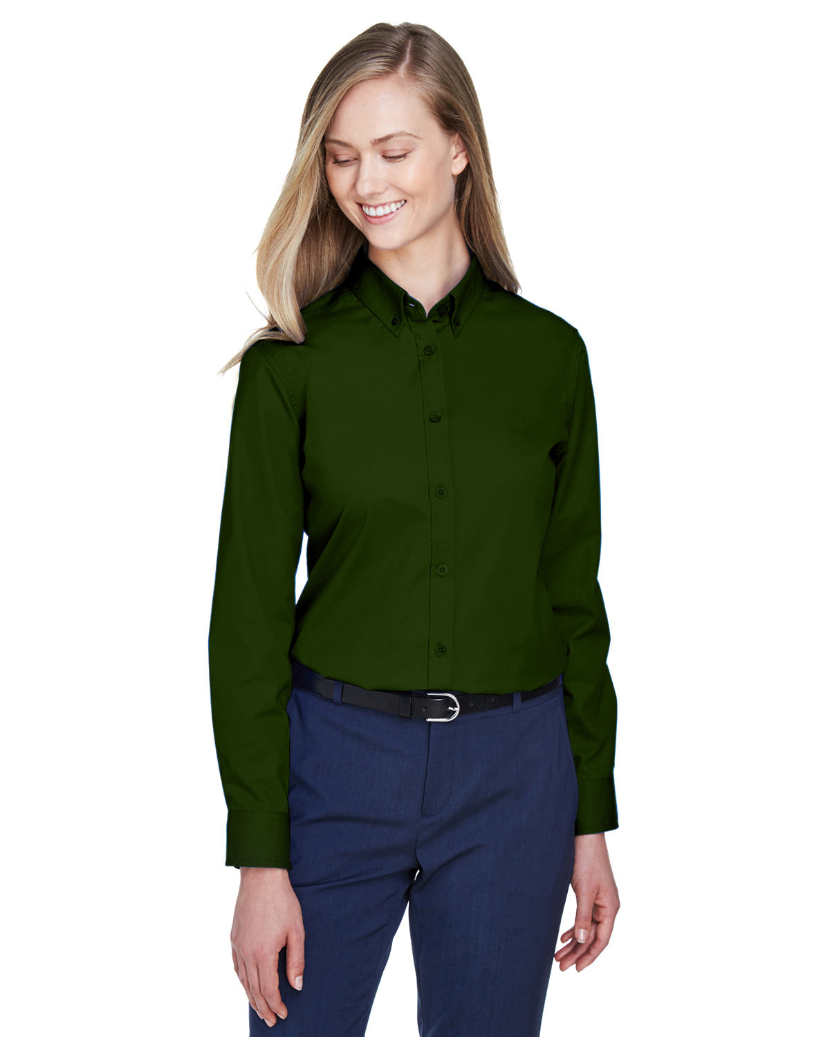 Core 365 Ladies' Operate Long-Sleeve Twill Shirt FOREST