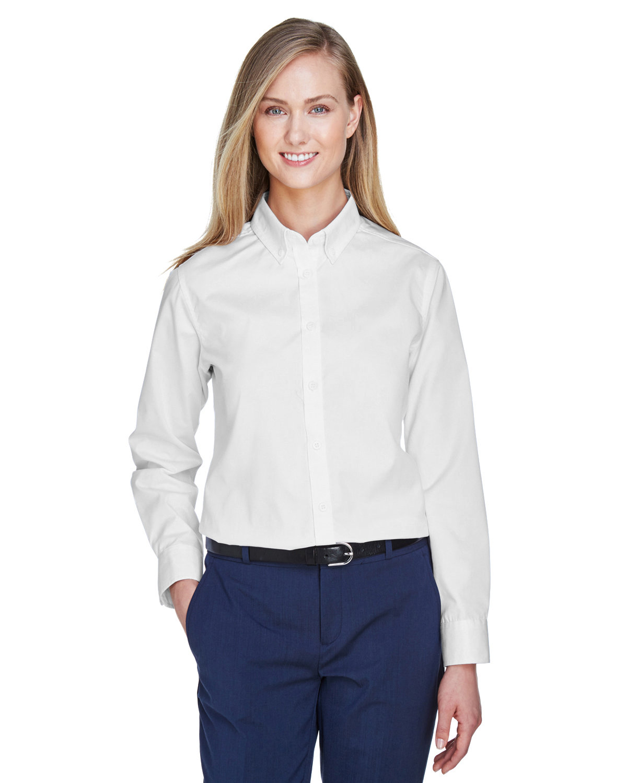 Core 365 Ladies' Operate Long-Sleeve Twill Shirt WHITE