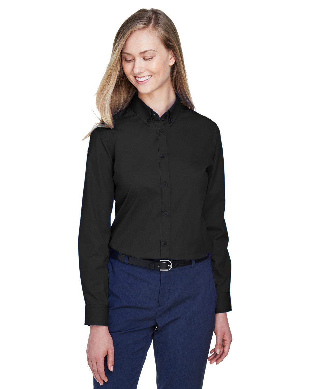 Core 365 Ladies' Operate Long-Sleeve Twill Shirt BLACK