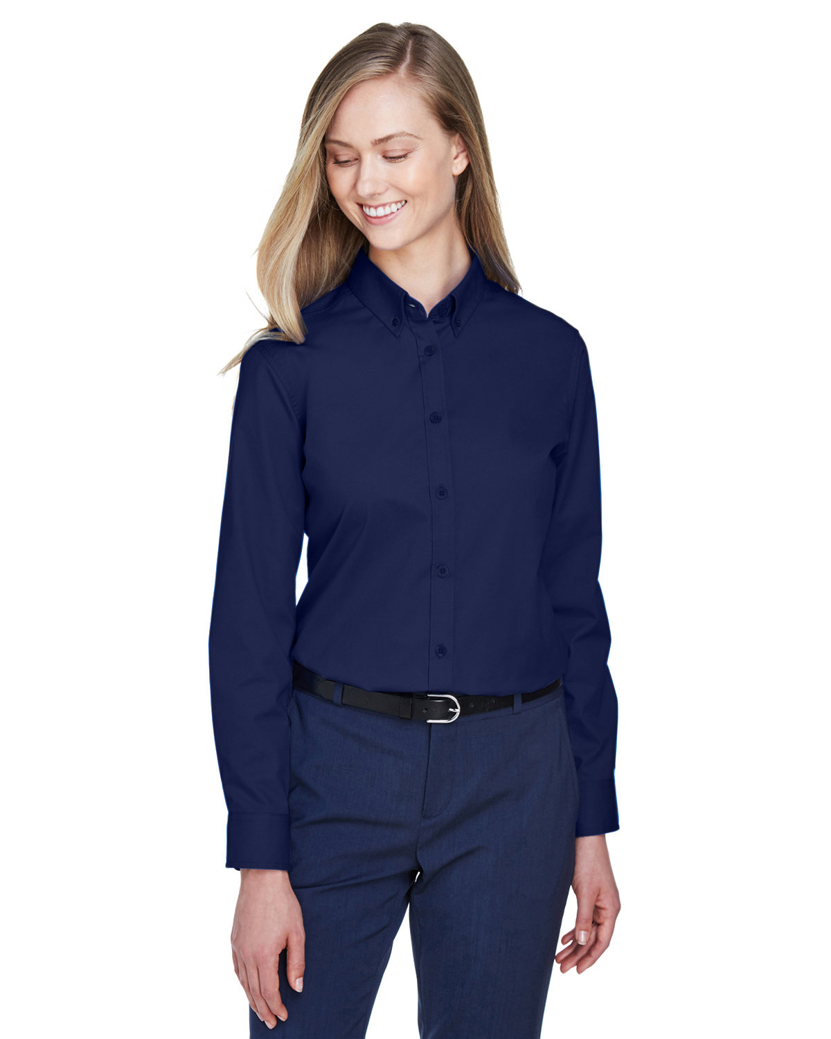 Core 365 Ladies' Operate Long-Sleeve Twill Shirt CLASSIC NAVY