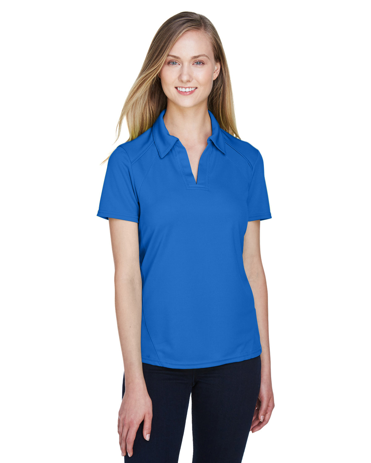 North End Ladies' Recycled Polyester Performance Piqué Polo LT NAUTICAL BLU