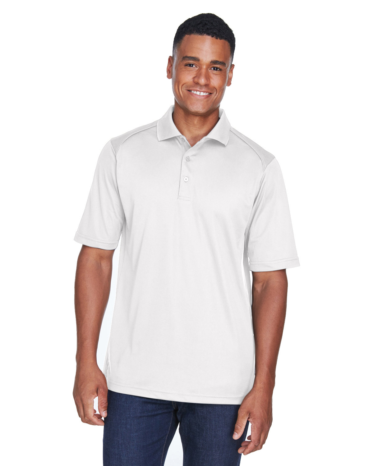 Extreme Men's Tall Eperformance™ Shield Snag Protection Short-Sleeve Polo WHITE